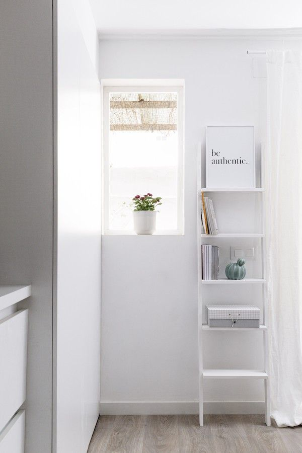 Nussa escalera estanter a blanca kenay home - Estanteria pared blanca ...