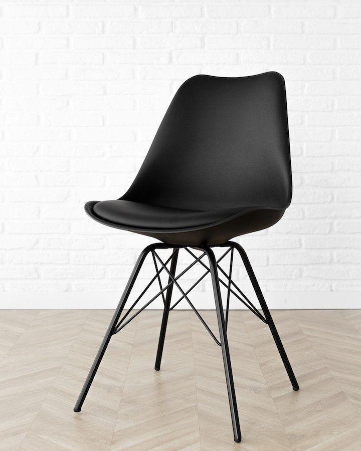 Rass silla negra c/patas metal