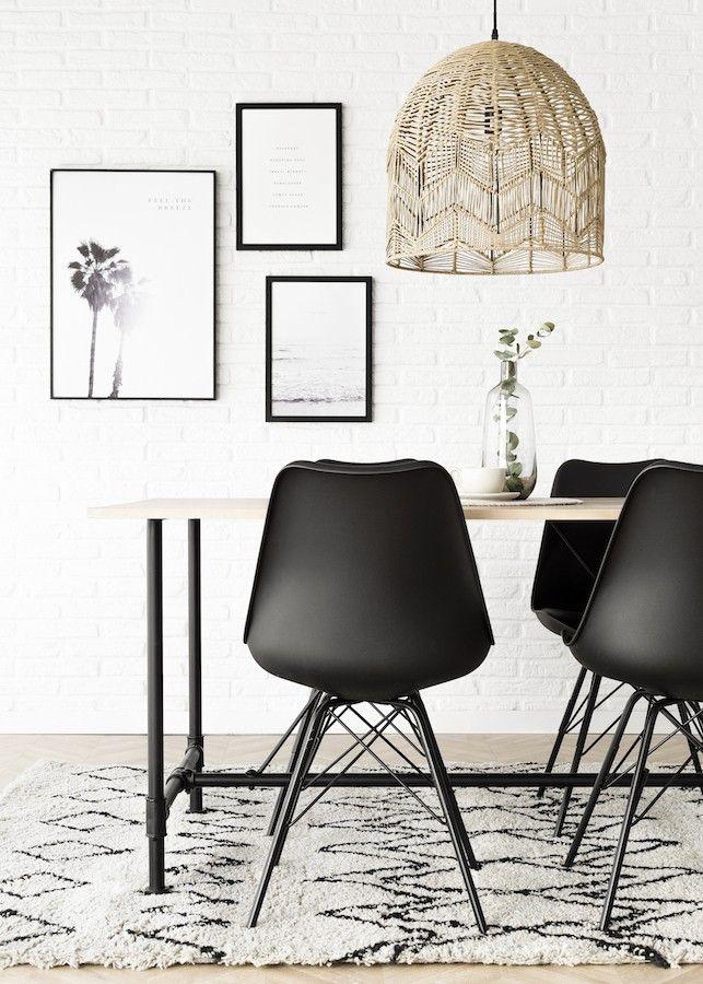 Rass cadeira negra c/pernas metal
