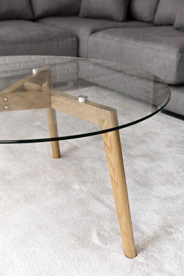 Skan mesa de centro de vidrio