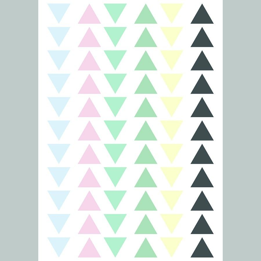 Triangles adesivo decorativo colours