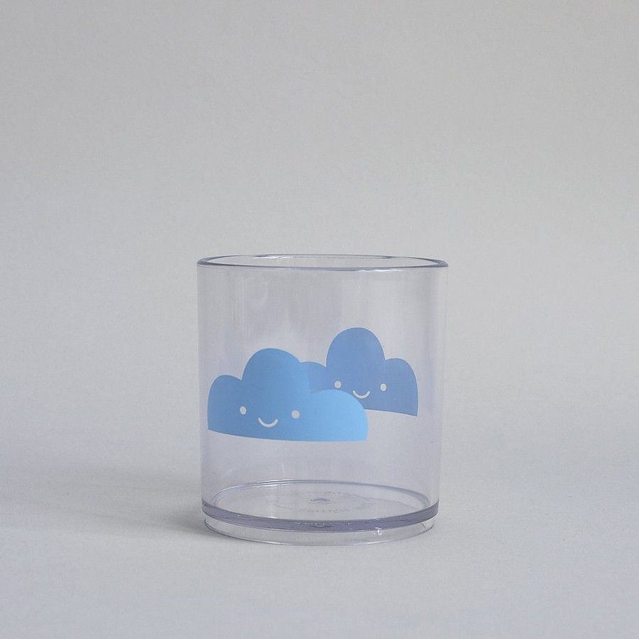 Clouds vaso azul