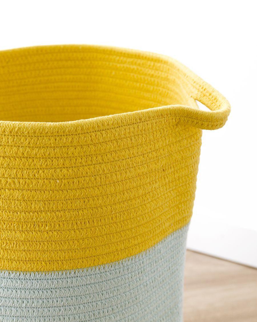 Dali cesto menta y amarillo
