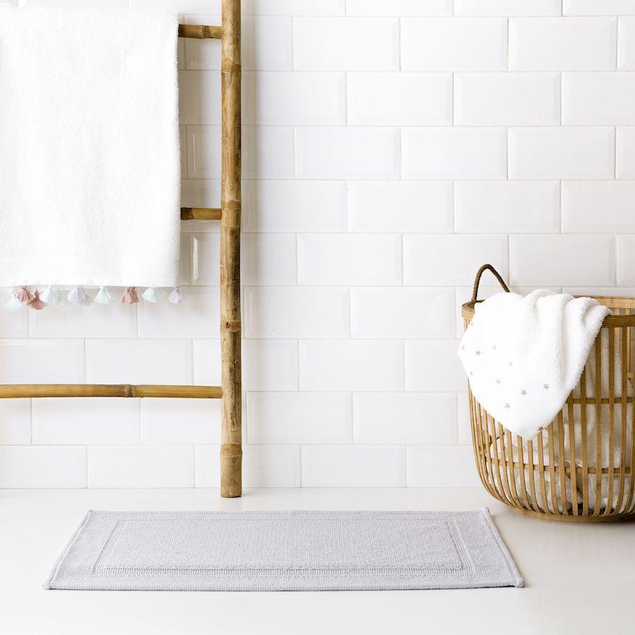 Tapete de casa de banho Basic cinzento