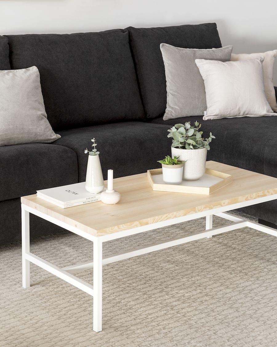 Dual mesa de centro blanca