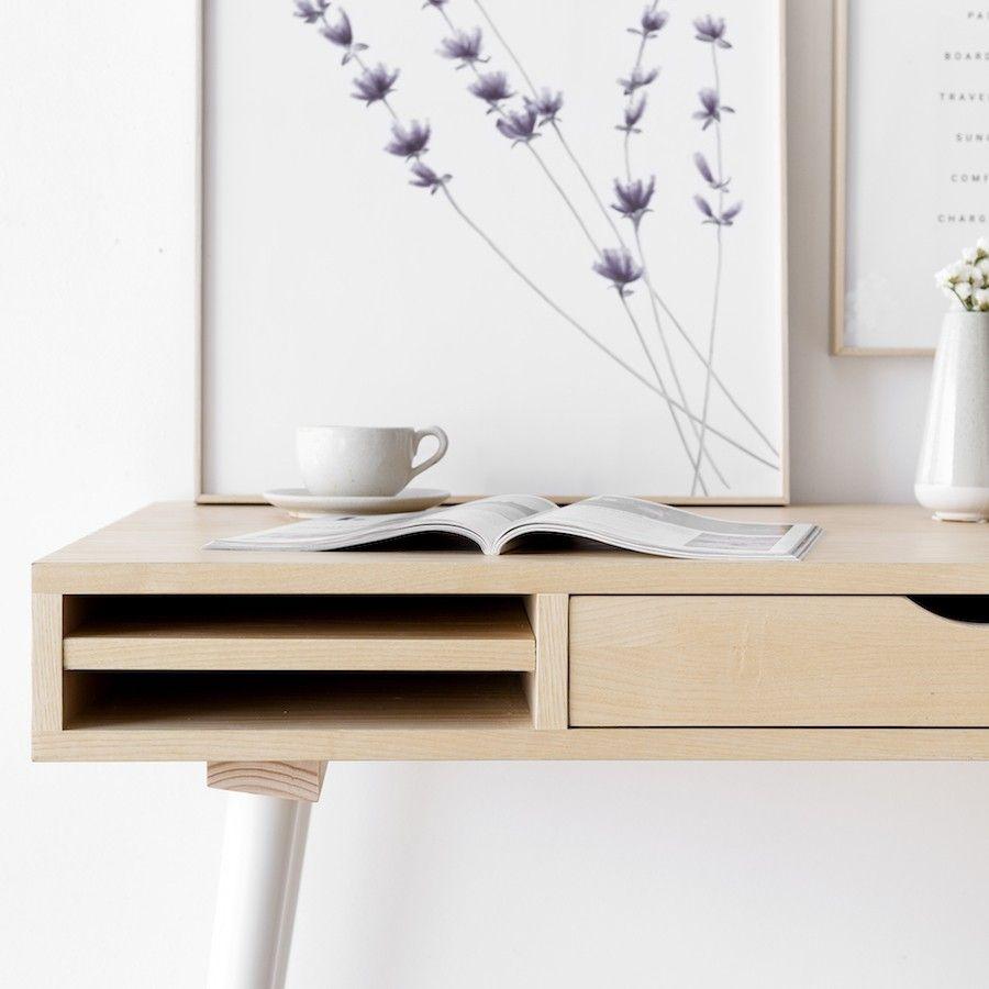 Mons escritorio fresno blanco