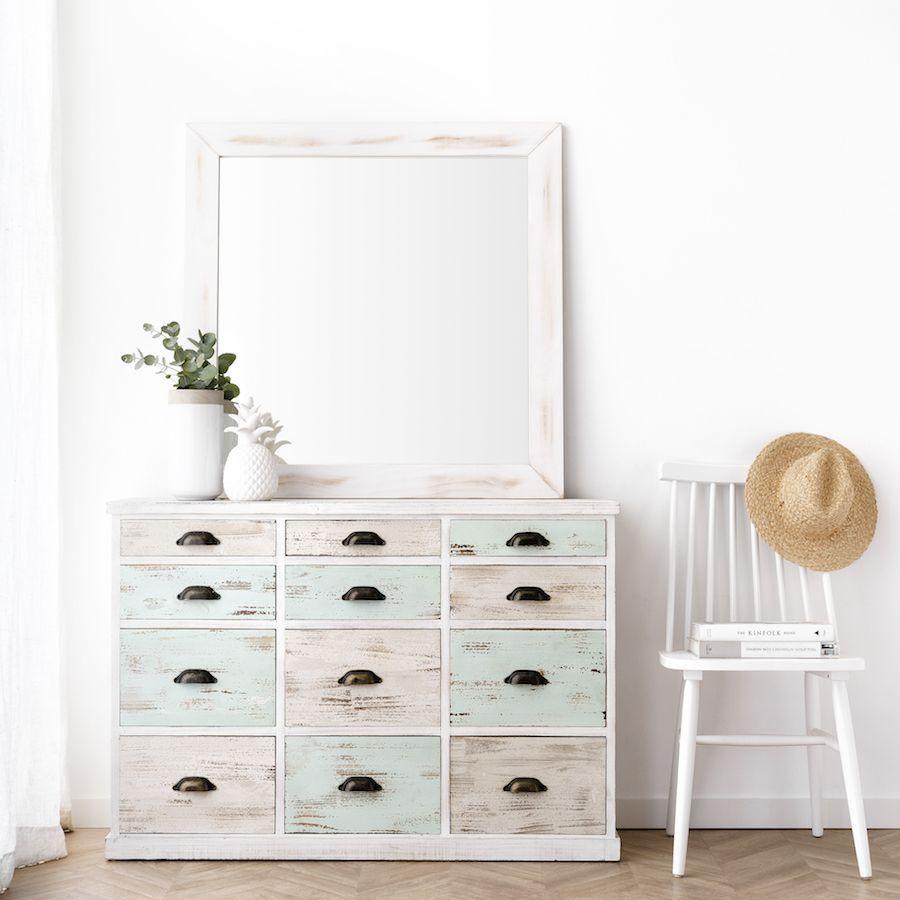 Lise Espelho Branco 90X90