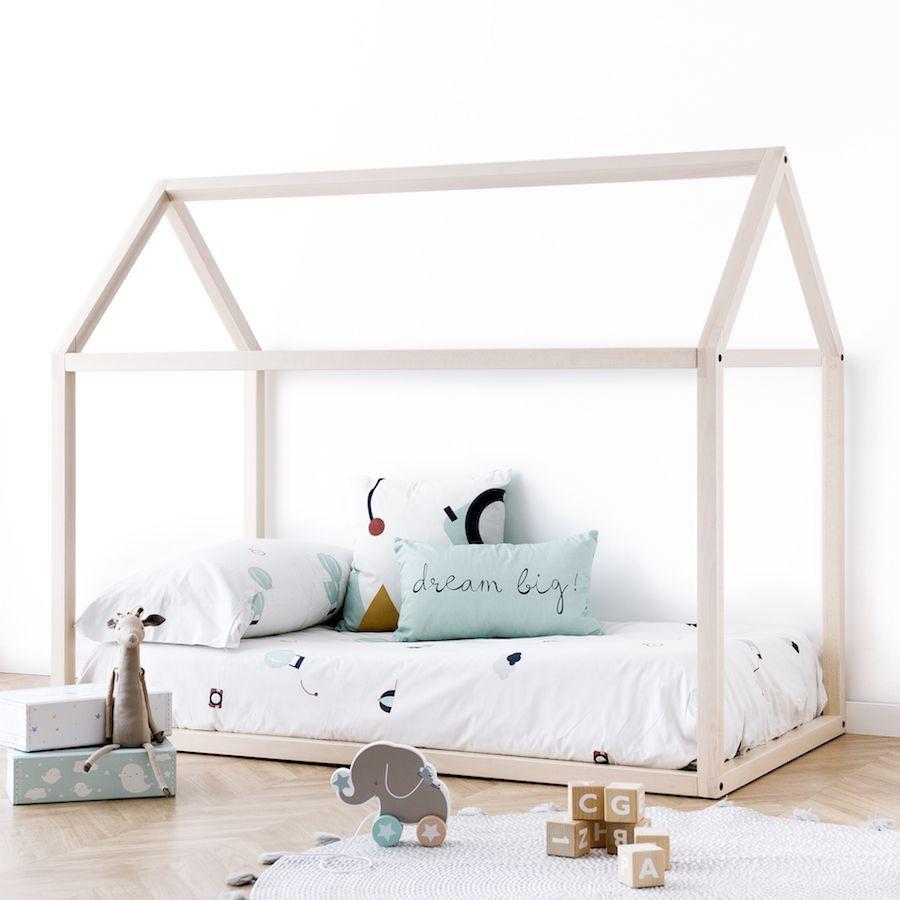 Mini cama casinha natural
