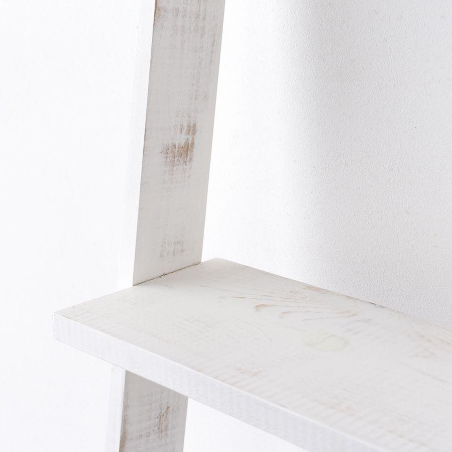 Nussa escalera estantería blanco decapado