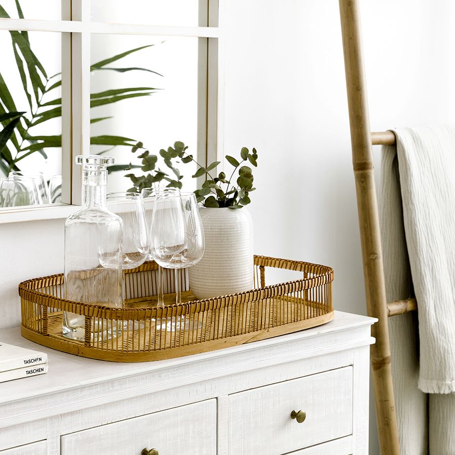 Laila bandeja bambú