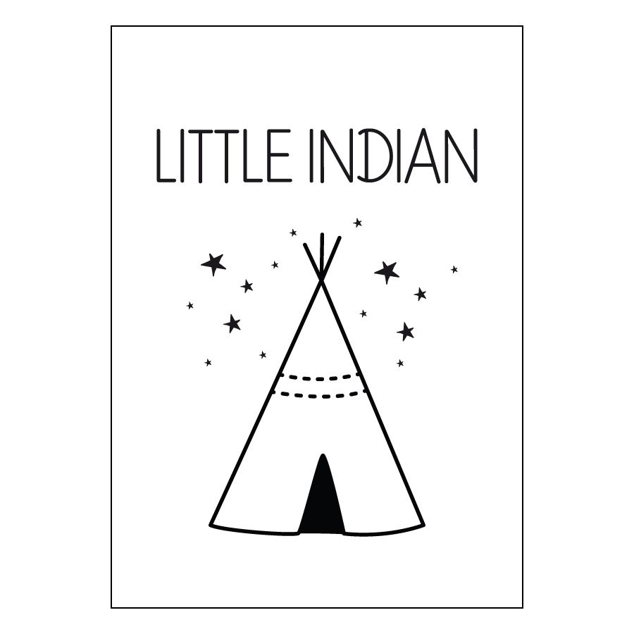 Little indian lámina A4