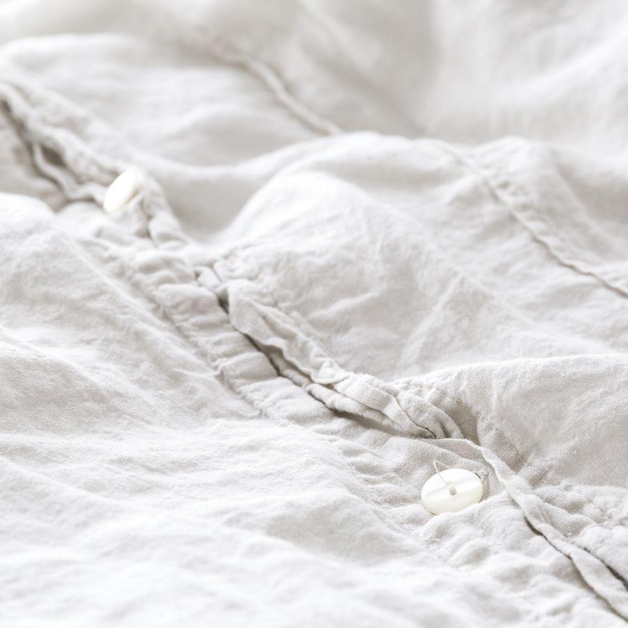 Lino funda nórdica blanco roto 260x240 cm