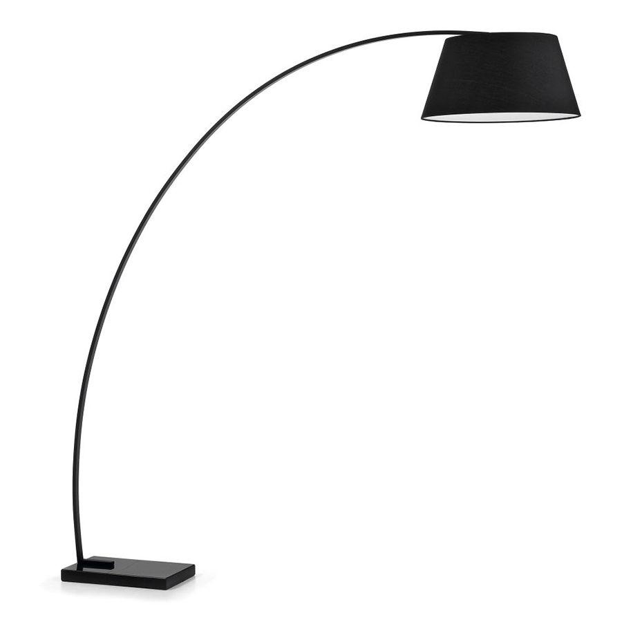 Curve lámpara de pie negra