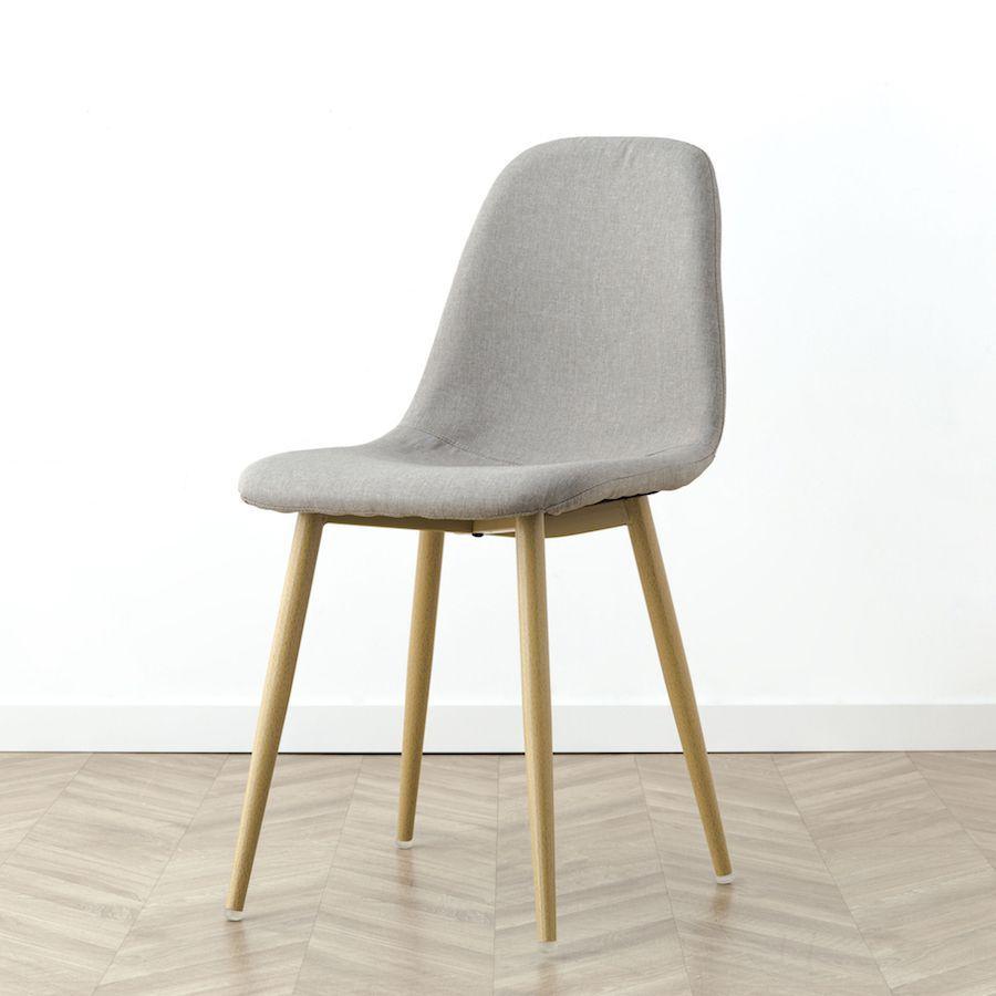 Pack mesa Cross branca-natural e 4 cadeiras Wave