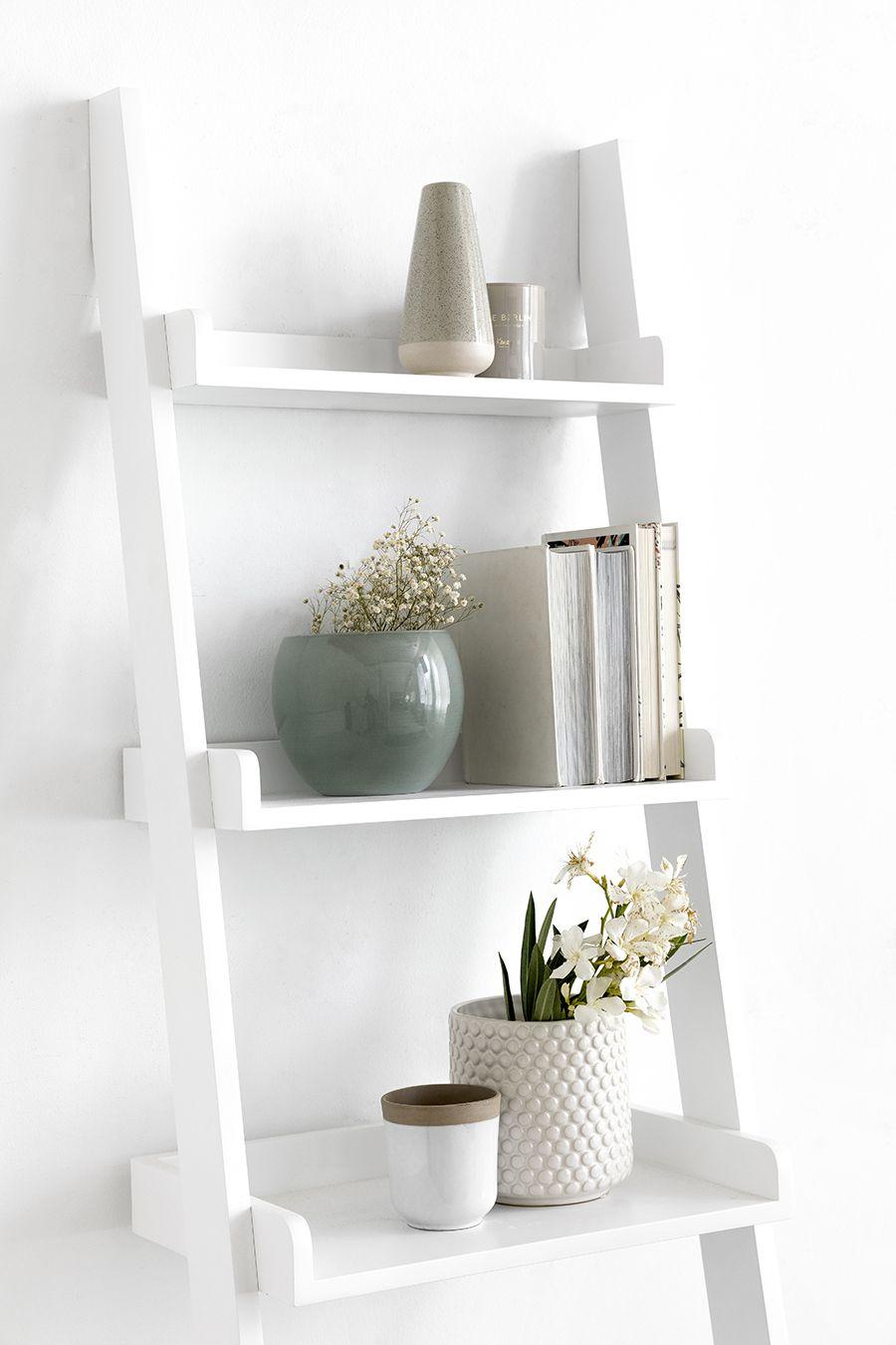Boira escada estante para parede
