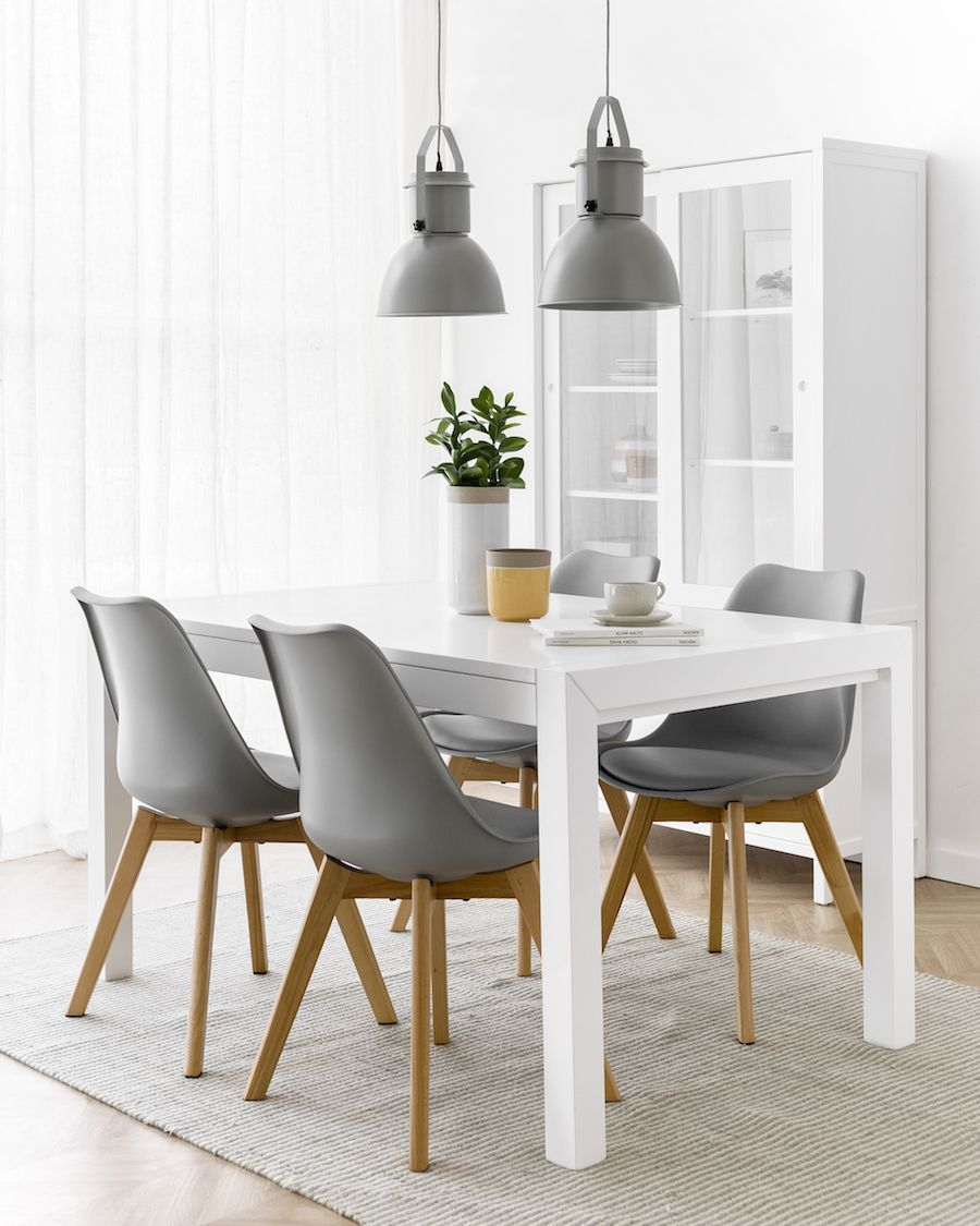 Lane mesa extensível branco