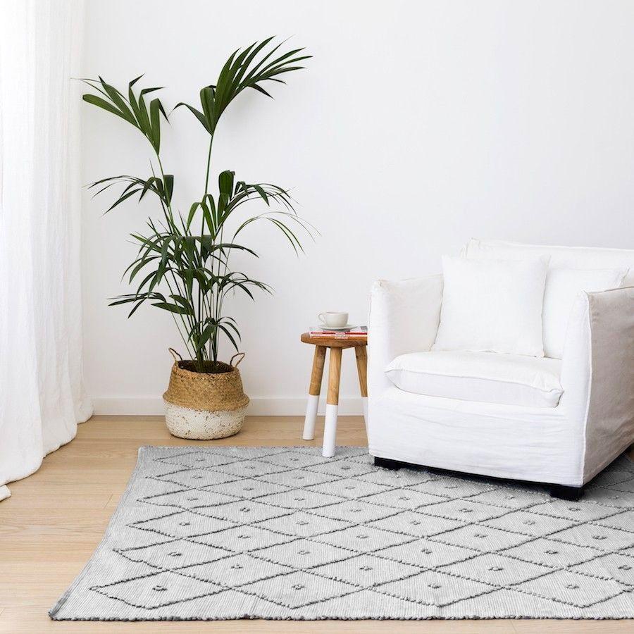Quad alfombra gris claro 150x200 cm