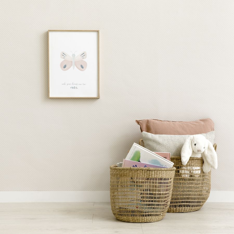 Baby wallpaper gris