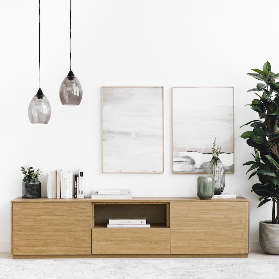 Unite mueble de TV 180 cm roble