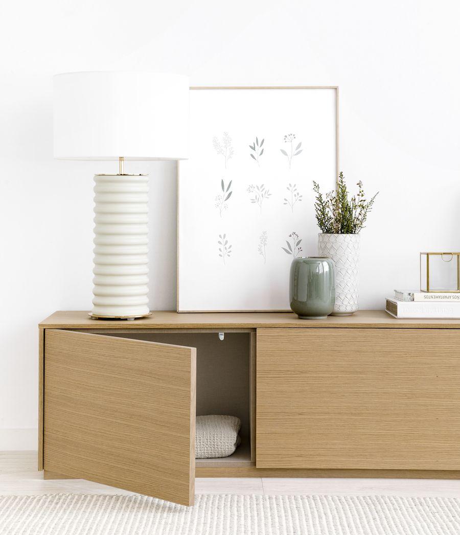 Unite mueble de TV 200 cm roble