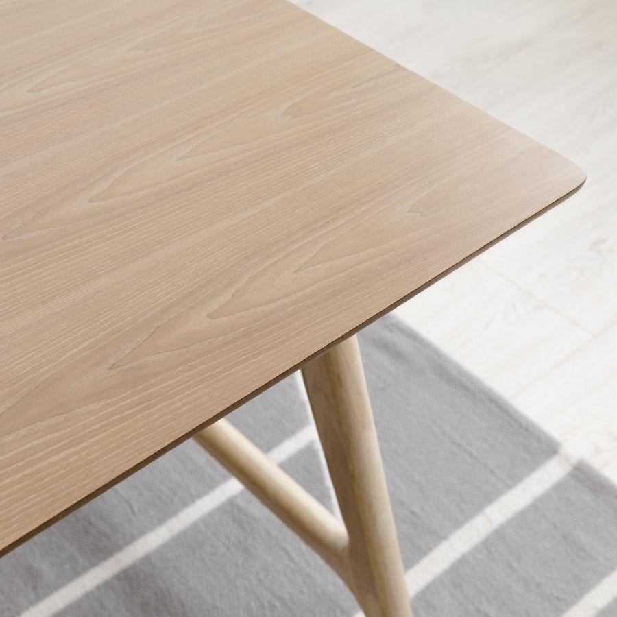 Pack Ash mesa natural 160cm e 4 cadeiras Wave
