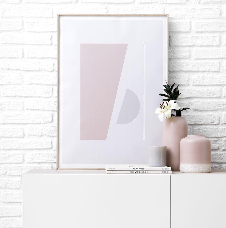 Trya lámina 3 rosa 50x70 cm