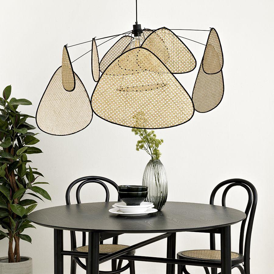 Wind lámpara de techo natural