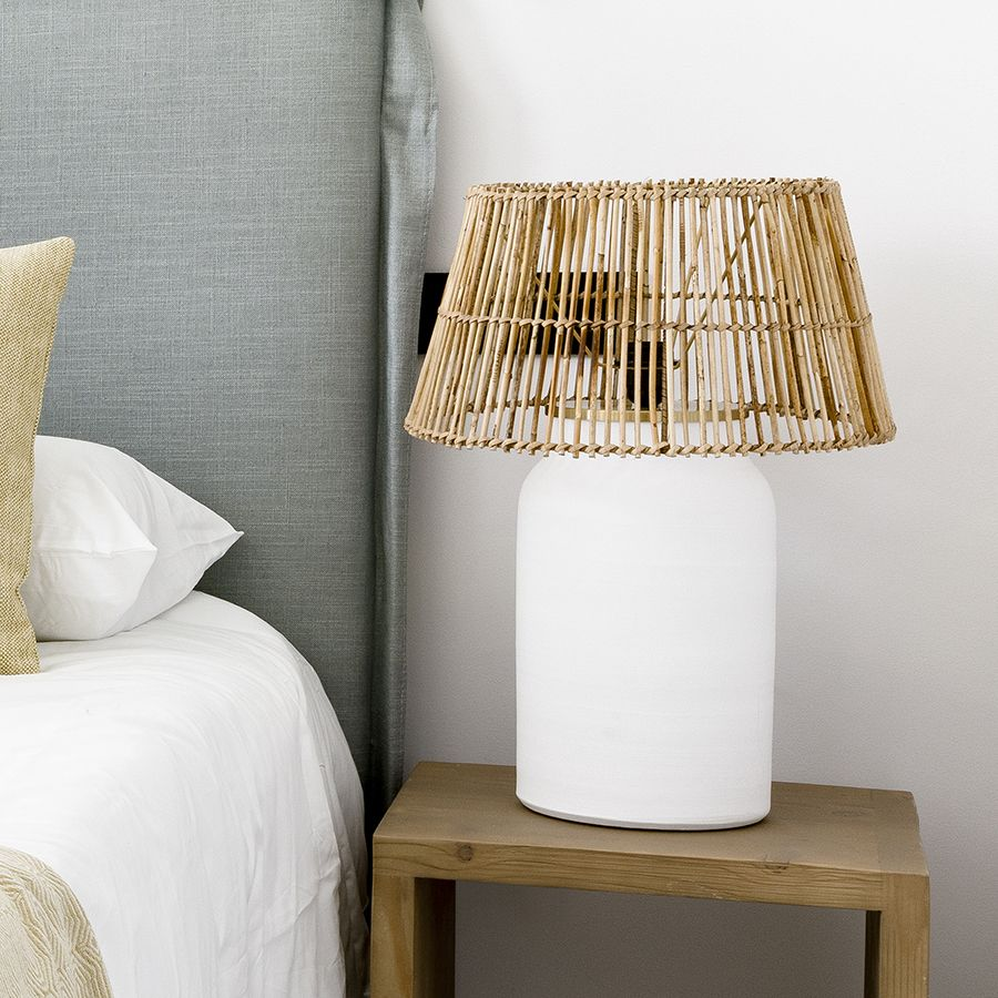 Palm lámpara ratán