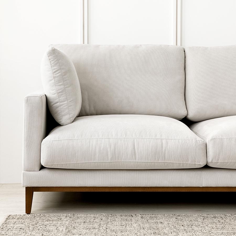 Penta sofá patas nogal