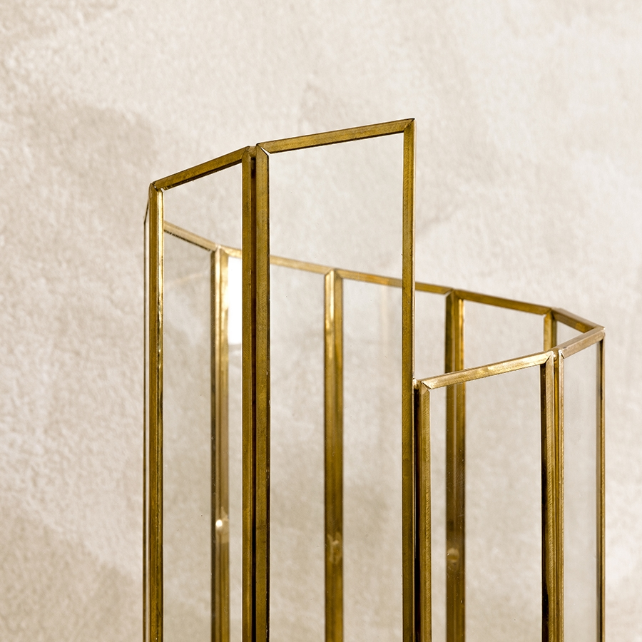 Gold portavelas