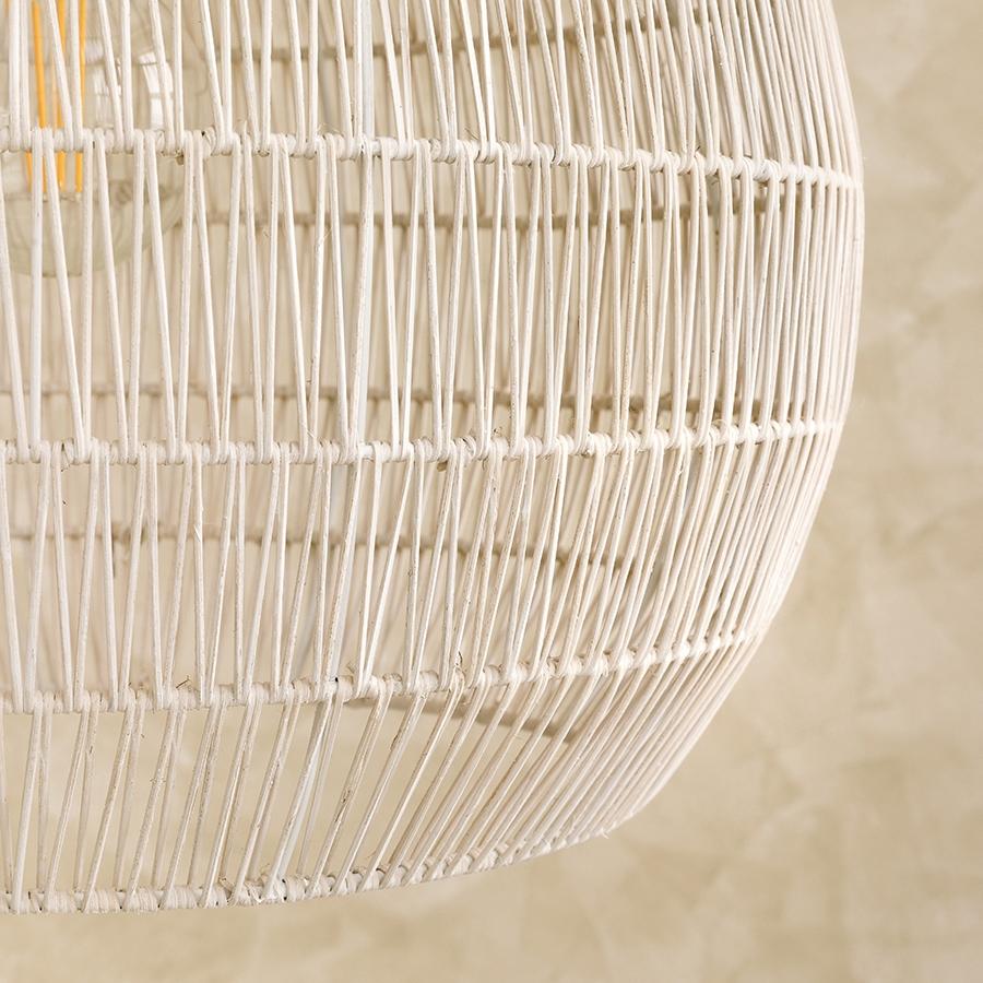 Wave lámpara de techo blanca