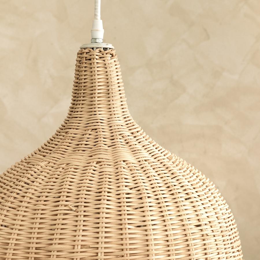 Candeeiro de teto natural tula