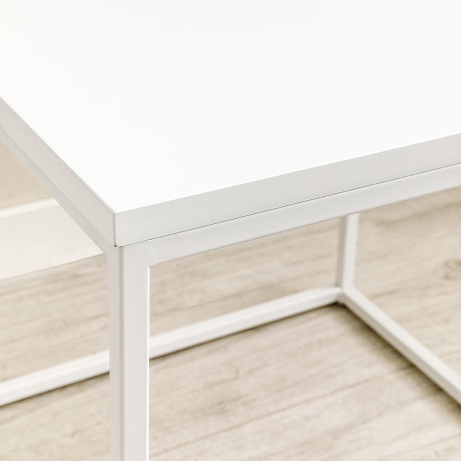 Clive mesa auxiliar blanca
