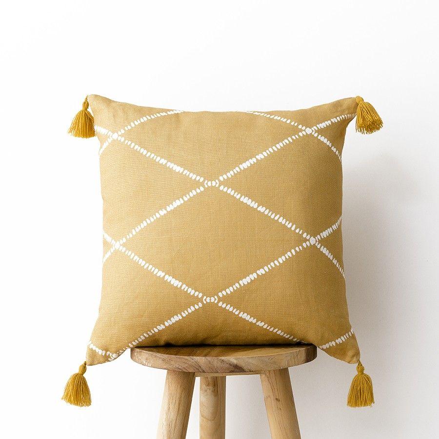 Rummi cuscino senape 45x45