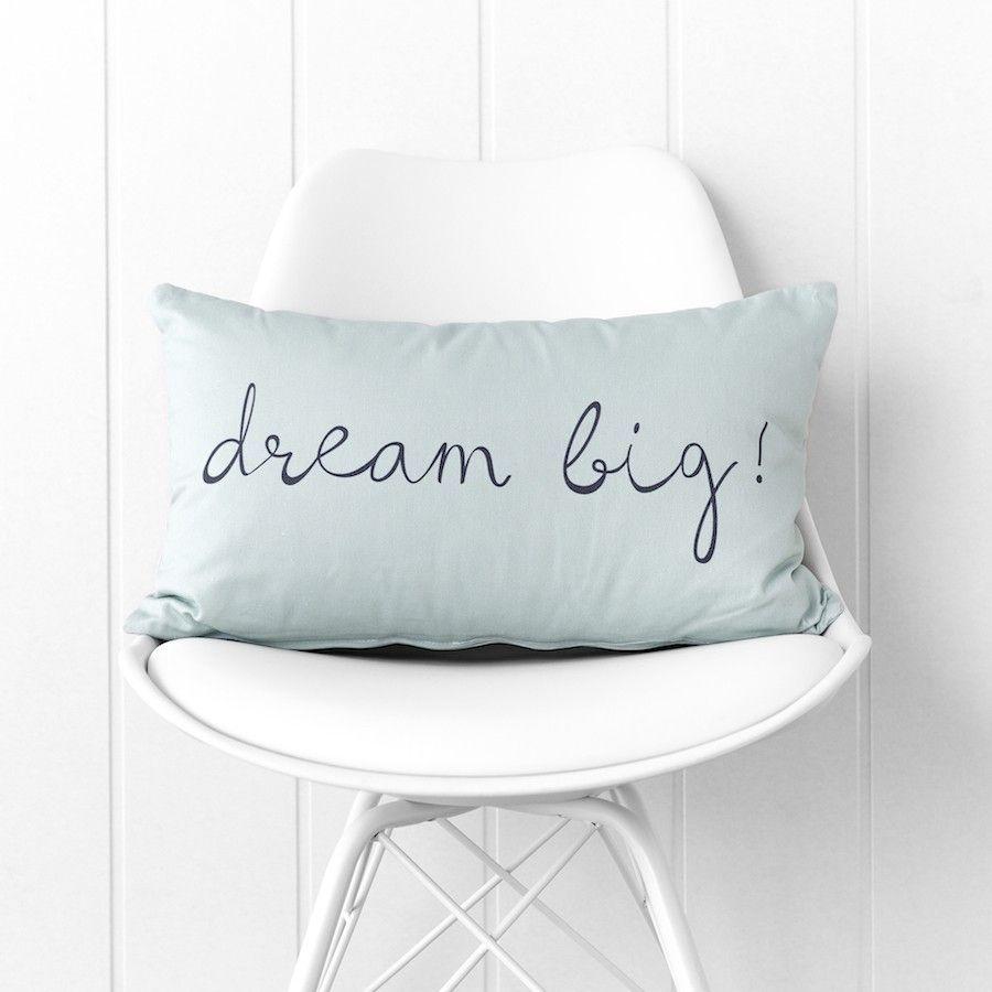 Dream big cuscino menta 30x50