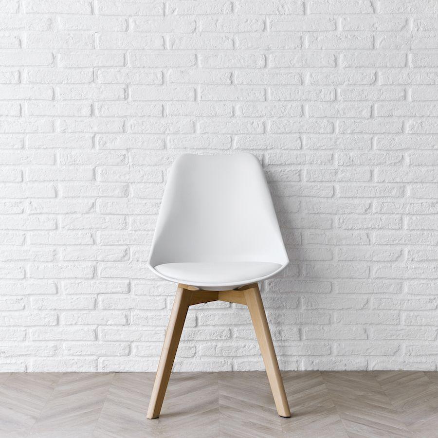 Scandinavian sedia bianca