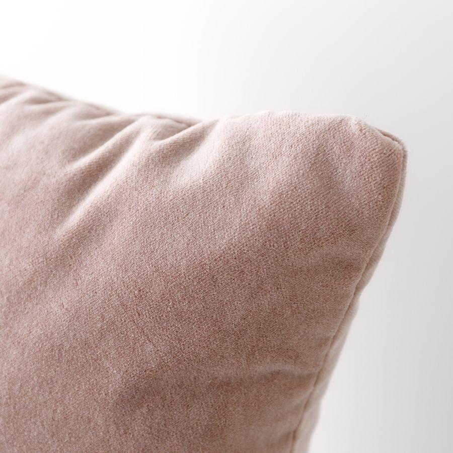 Velvet cuscino rosa
