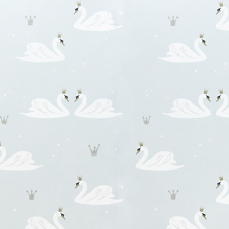 Swans wallpaper menta
