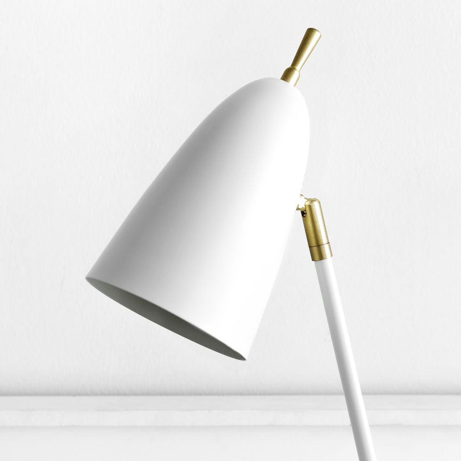 Pat lámpara de sobremesa blanca