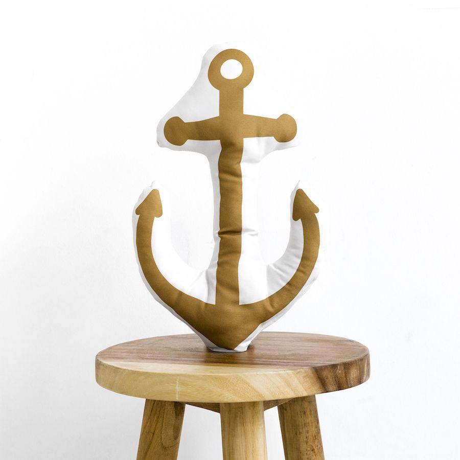 Navy ancla cuscino