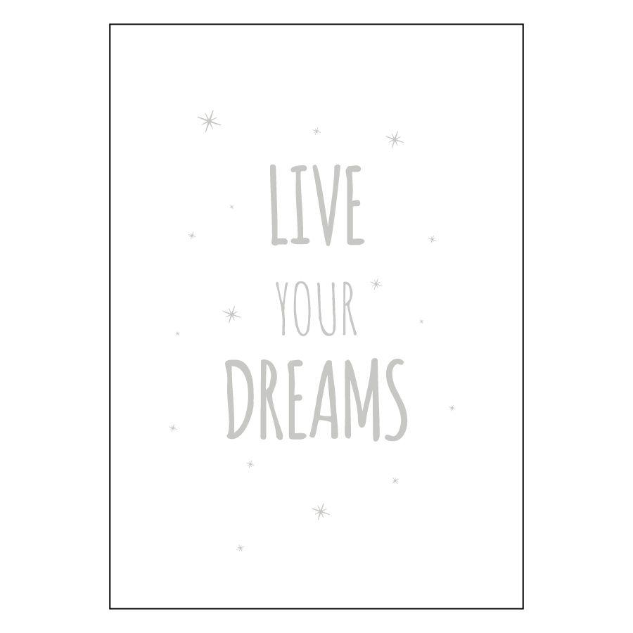 Dreams stampa argento A4