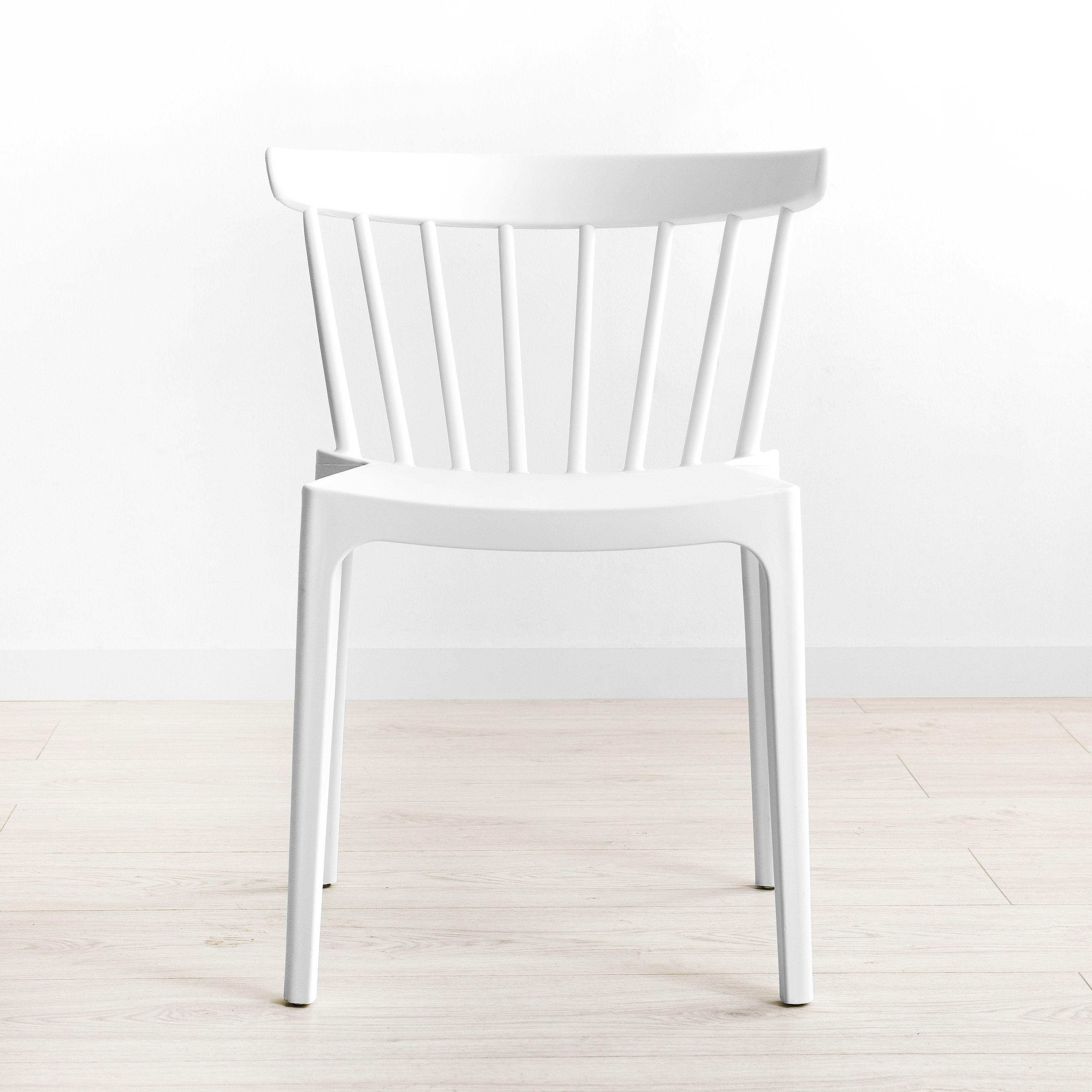 Pack mesa Lane blanca y 4 sillas Nobu