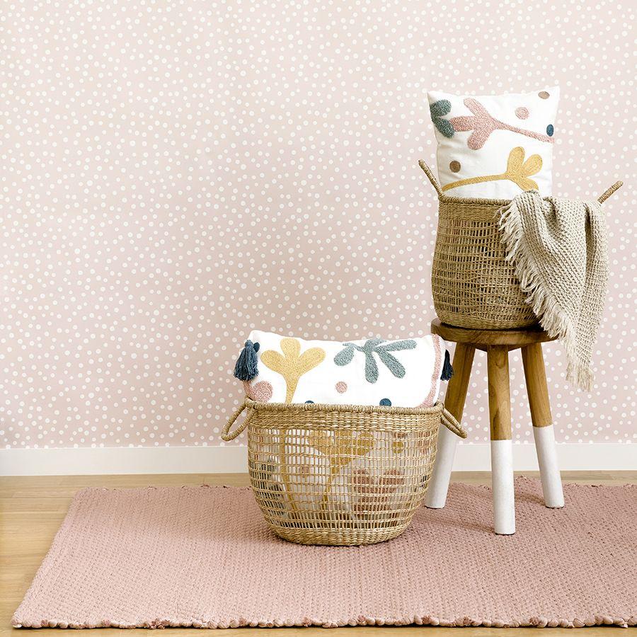 Braid tappeto rosa grande